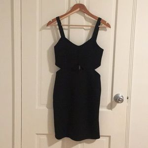 H&M black dress with waist openings